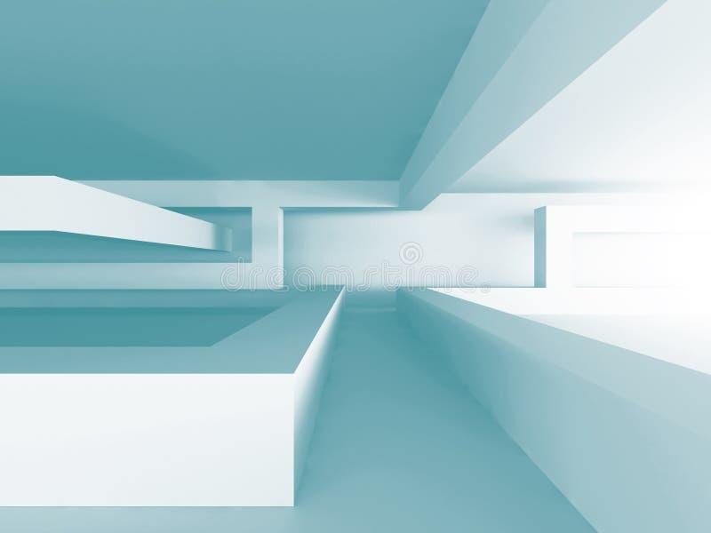 Fundo arquitetónico abstrato do projeto geométrico ilustração stock