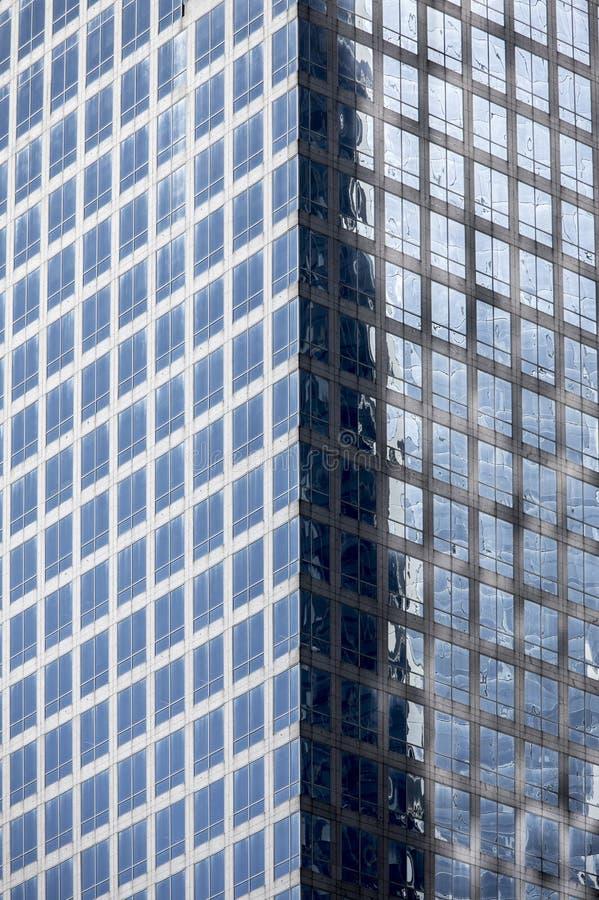 Fundo arquitetónico arranha-céus de vidro de New York City recolhido fotografia de stock