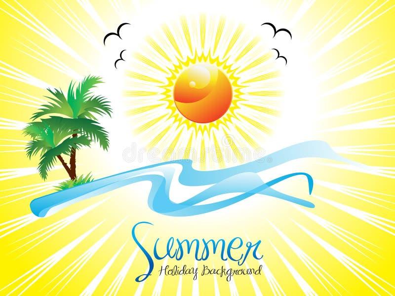 Fundo artístico abstrato das férias de verão ilustração do vetor