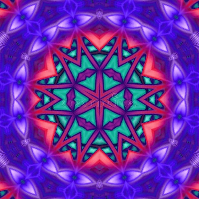 Fundo artístico com olhos violetas ilustração do vetor