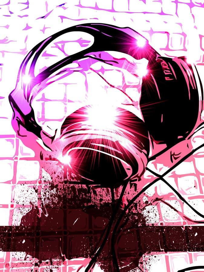Fundo artístico da música do monofone do DJ ilustração royalty free