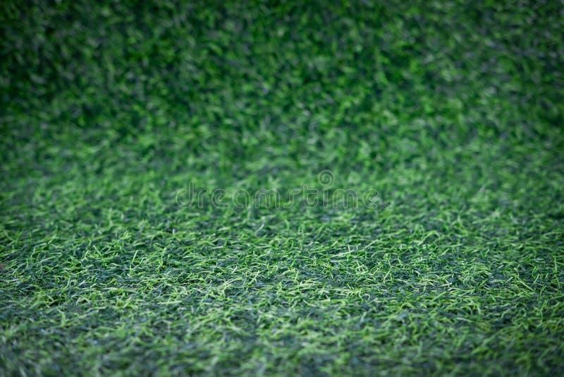 Fundo artificial do relvado da grama, grama longa foto de stock