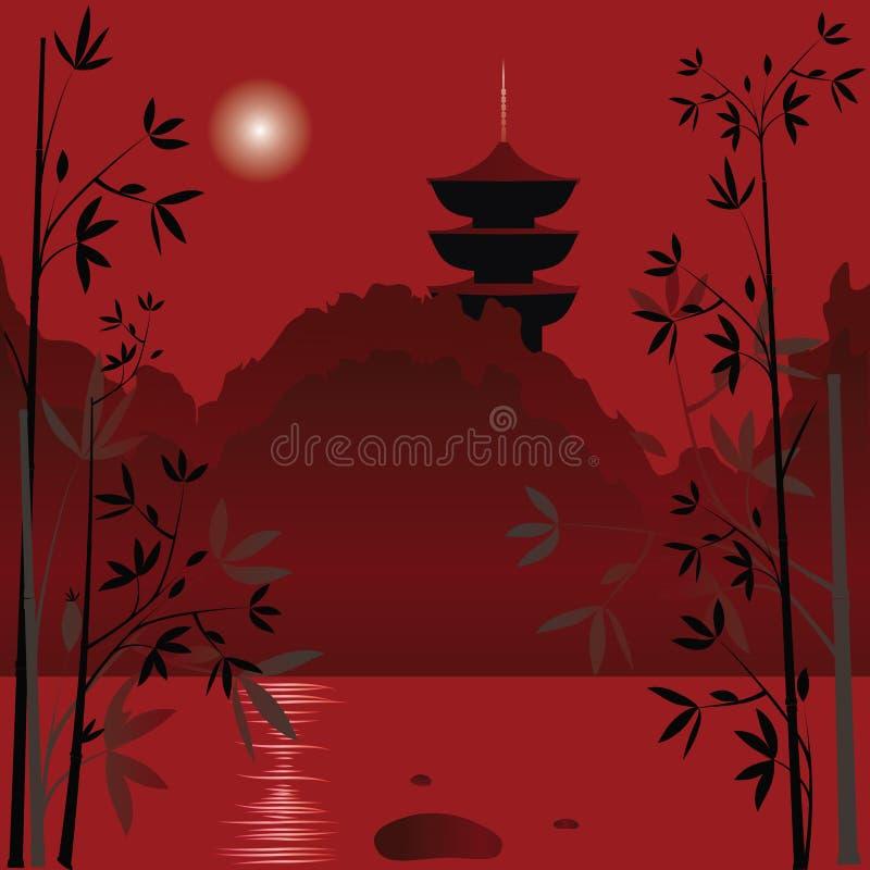 Fundo asiático ilustração royalty free