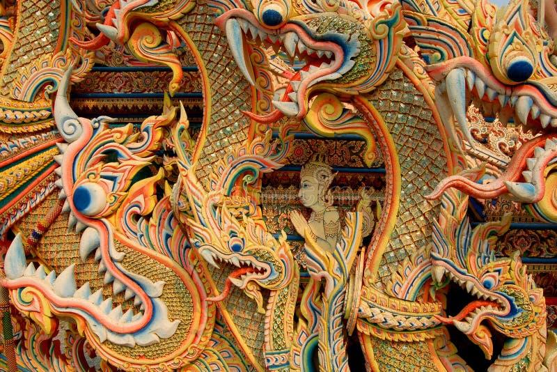 Fundo asiático do dragão fotos de stock