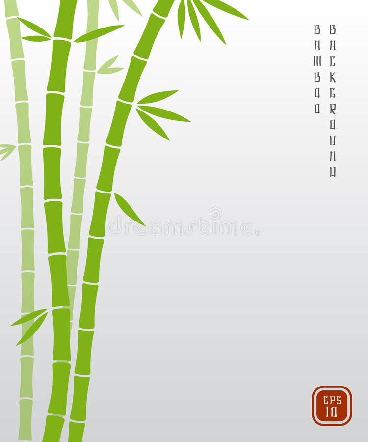 Fundo asiático do vetor do bambu chinês ou do bambu japonês ilustração stock