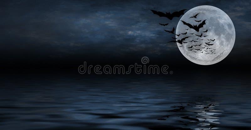 Fundo assustador de Halloween para o projeto ilustração stock