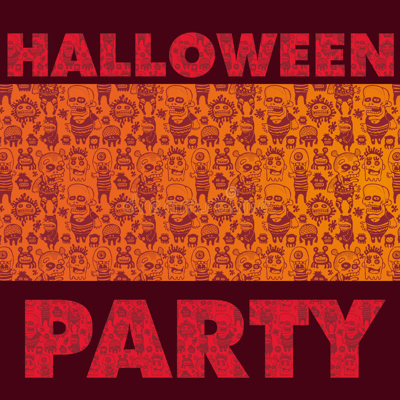 Fundo assustador do partido de Halloween ilustração royalty free