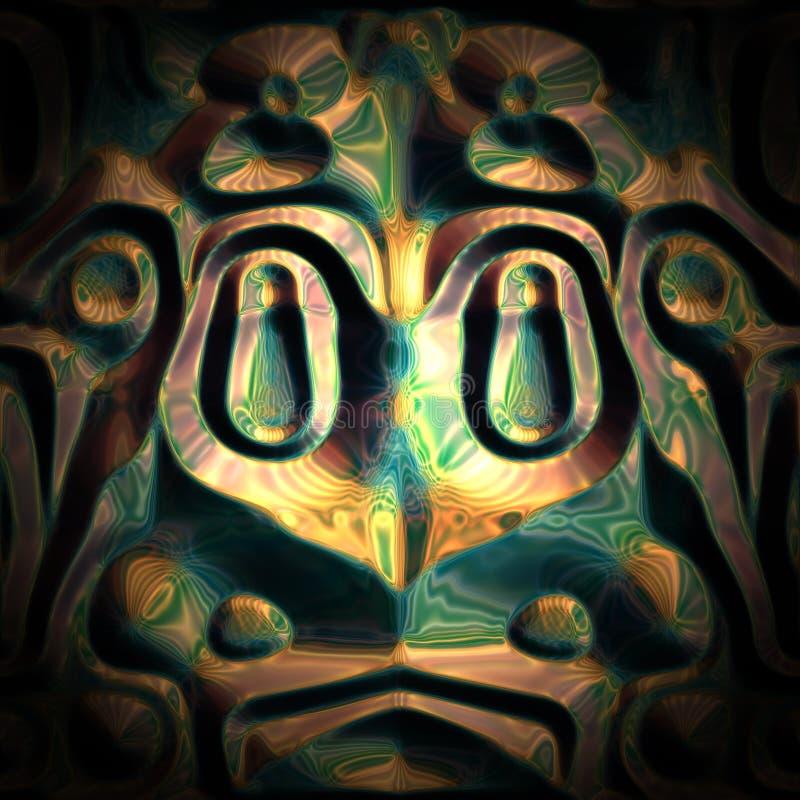 Fundo asteca da rã ilustração do vetor