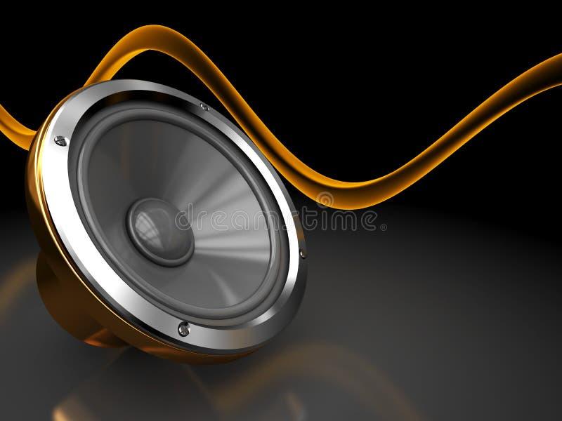 Fundo audio ilustração stock