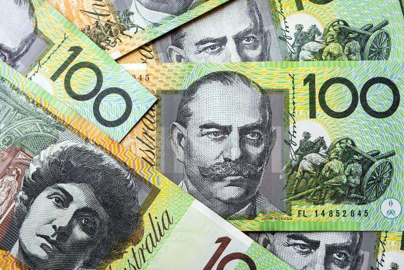 Fundo australiano do dinheiro imagens de stock royalty free
