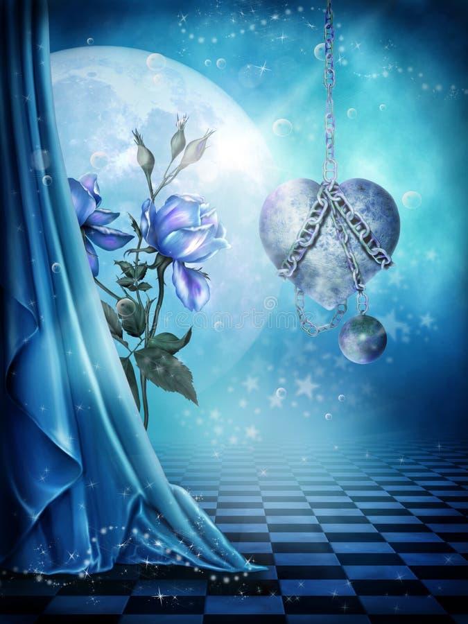 Fundo azul 1 ilustração royalty free