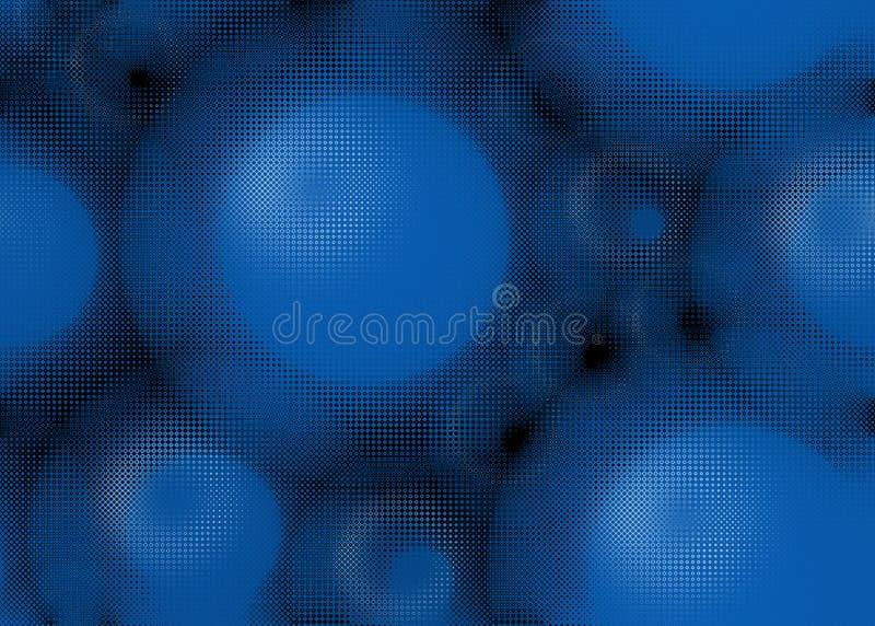 Fundo azul ilustração stock
