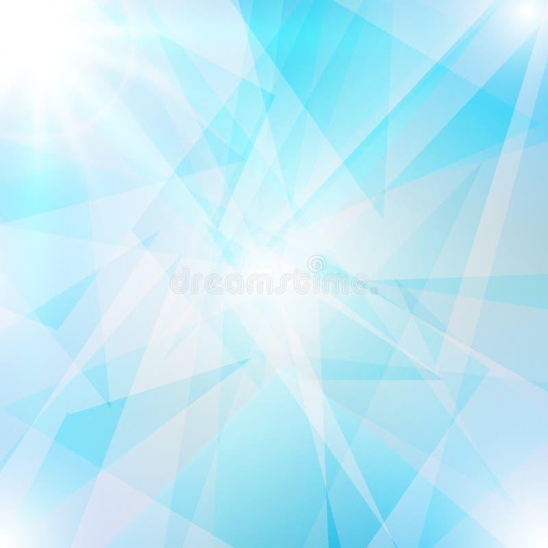 Fundo azul abstrato ilustração do vetor