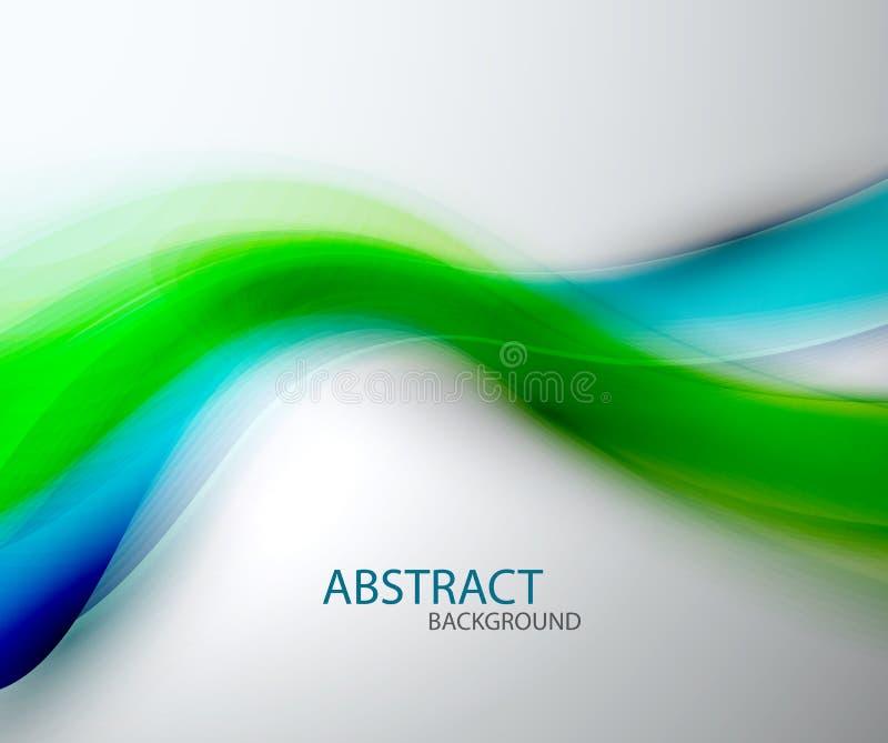 Fundo azul abstrato borrado da onda verde