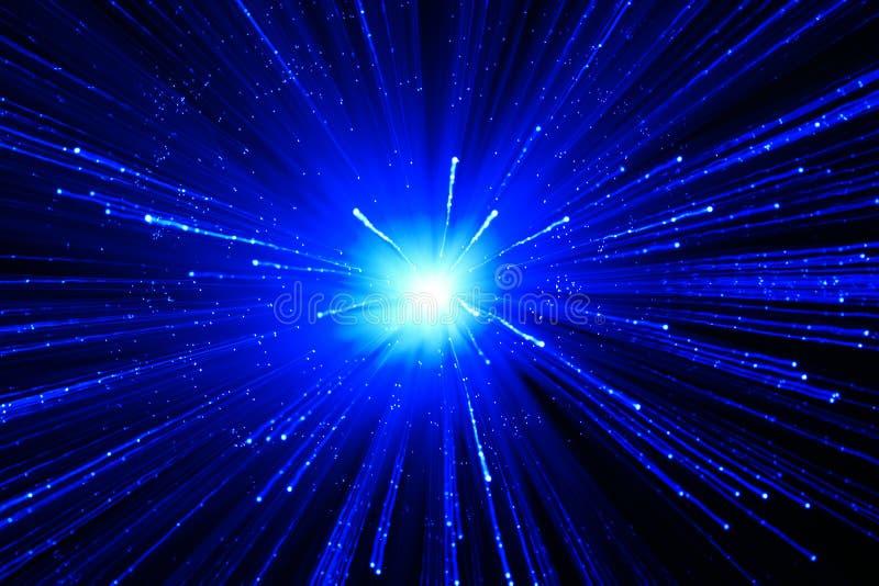 Fundo azul abstrato com estrela ilustração do vetor
