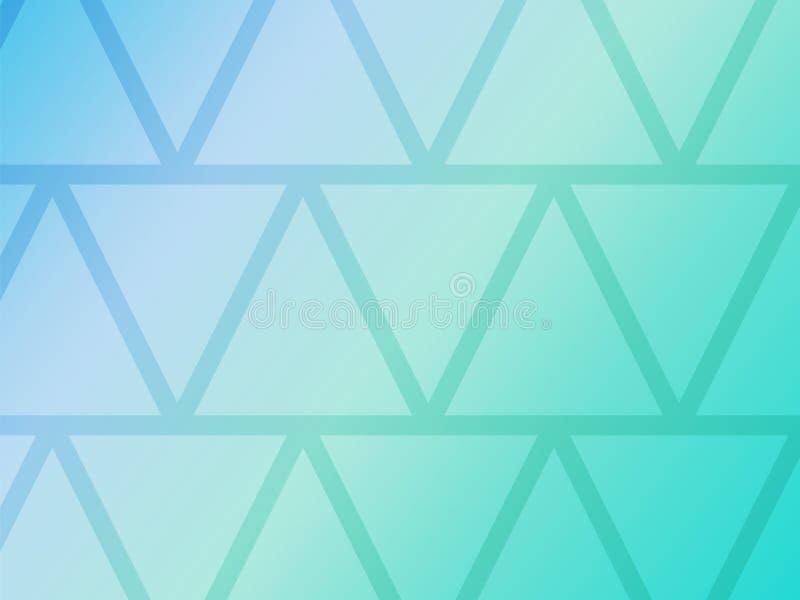 Fundo azul abstrato com formas geométricas dos triângulos ilustração royalty free