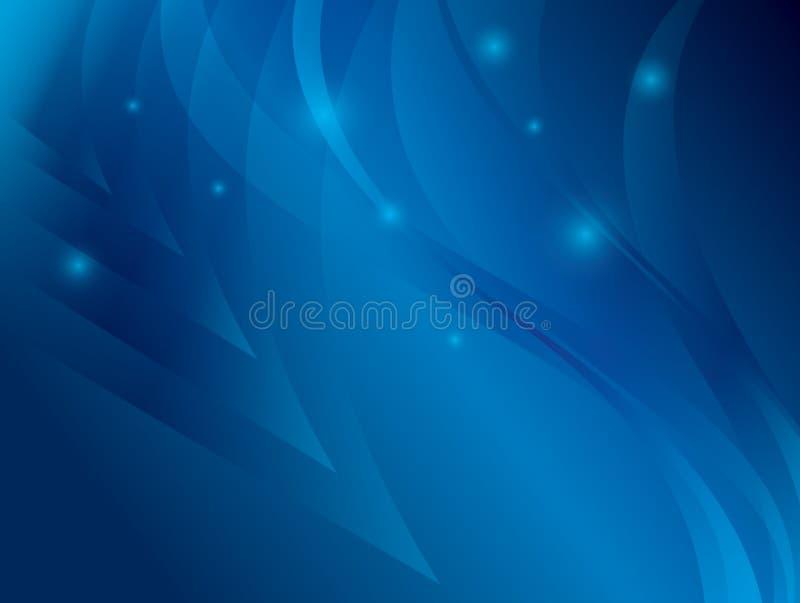 Fundo azul abstrato com ondas ilustração stock