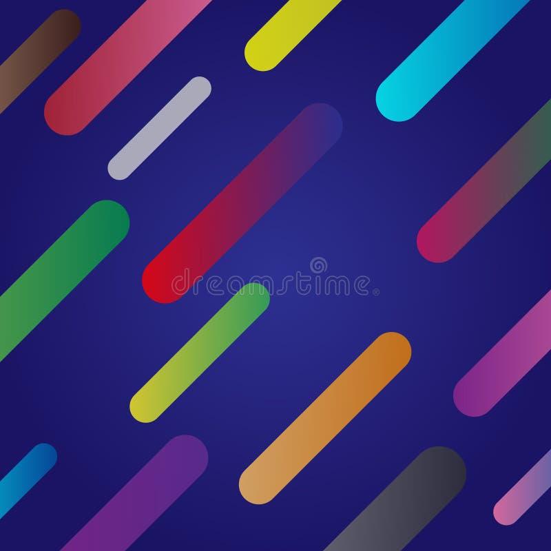 fundo azul abstrato com shaps coloridos ilustração do vetor