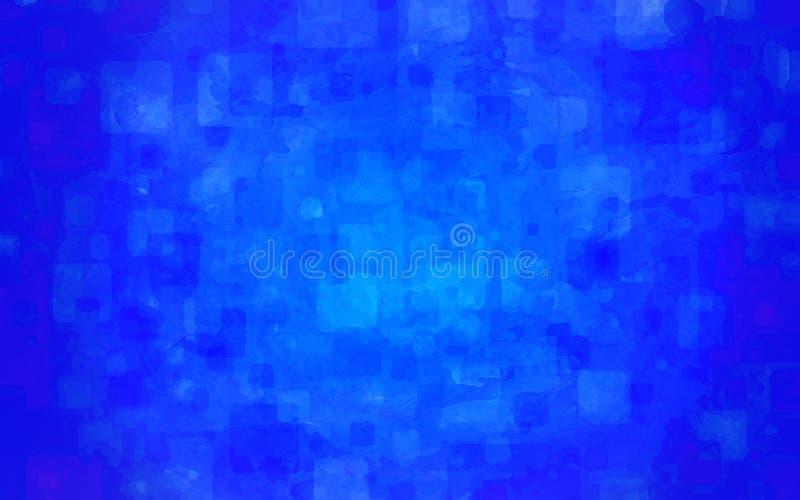 Fundo azul abstrato da aguarela ilustração royalty free