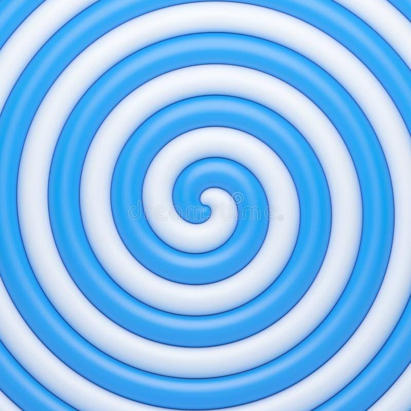 Fundo azul abstrato da espiral dos doces ilustração stock