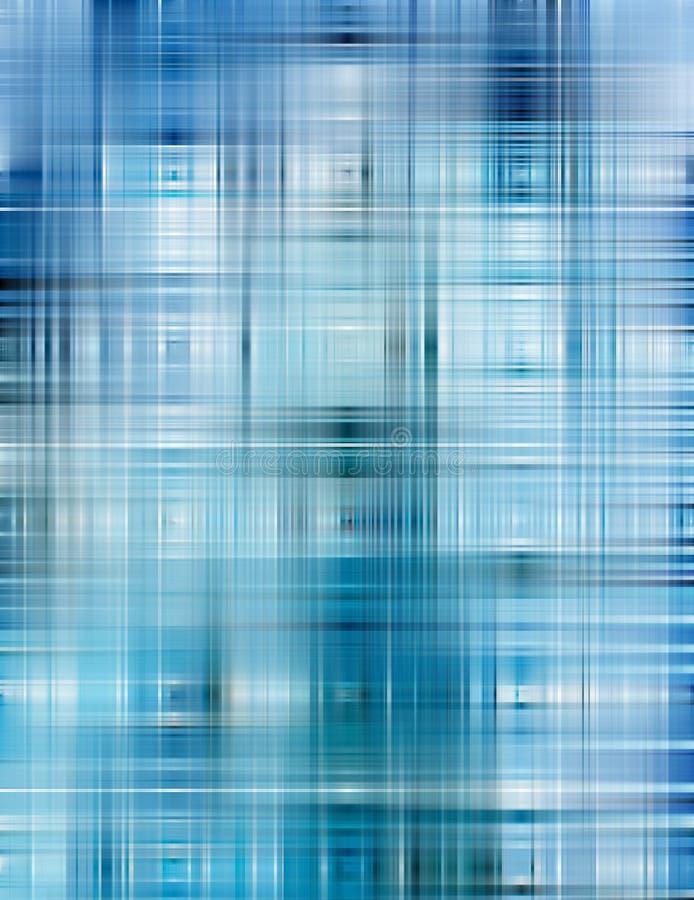 Fundo azul abstrato da forma ilustração stock