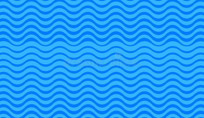 Fundo azul abstrato da onda ilustração stock