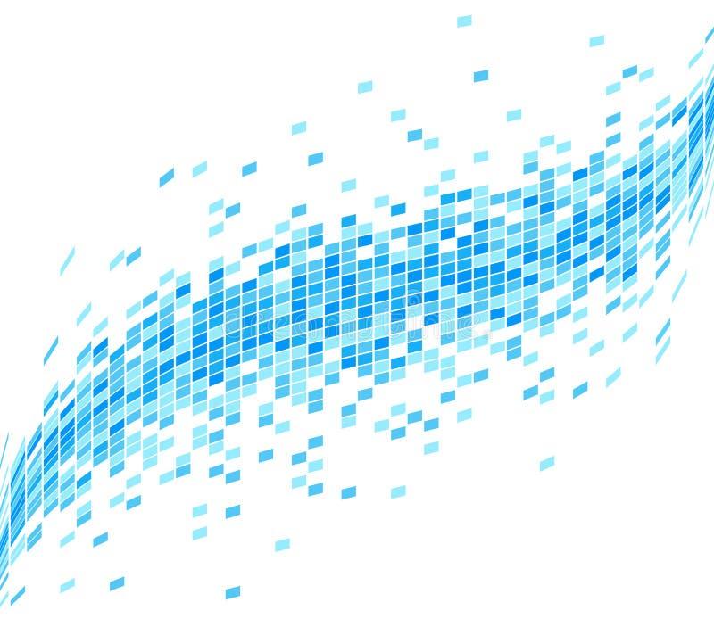 Fundo azul abstrato da onda do mosaico - ilustração ilustração royalty free