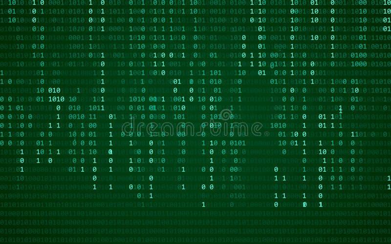 Fundo azul abstrato da tecnologia Código de computador binário Programação/conceito da codificação/hacker Ilustração do fundo do  ilustração royalty free