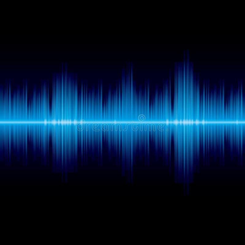 Fundo azul abstrato do equalizador da onda ilustração stock