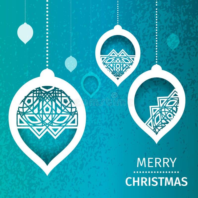 Fundo azul abstrato do Feliz Natal ilustração do vetor