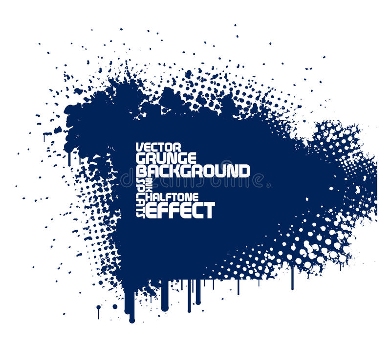 Fundo azul abstrato do grunge ilustração stock