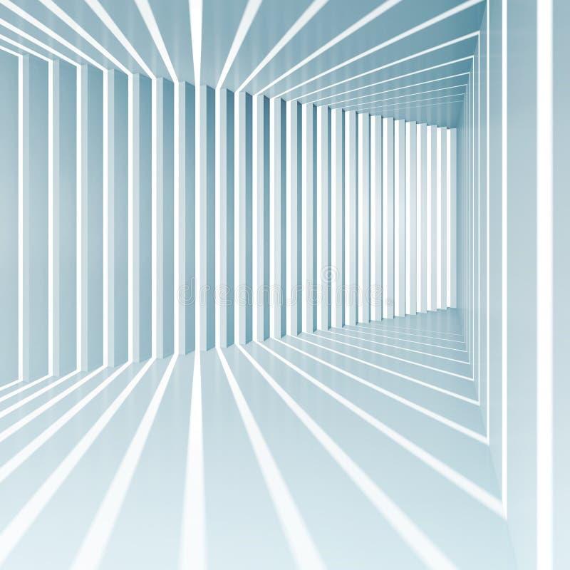 Fundo azul abstrato do interior do quadrado 3d ilustração royalty free