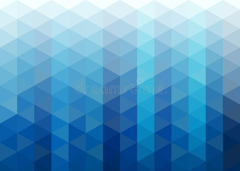Fundo azul abstrato do mosaico dos triângulos ilustração do vetor