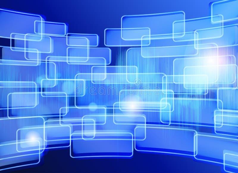 Fundo azul abstrato do techno. Projeto de cartão. ilustração stock