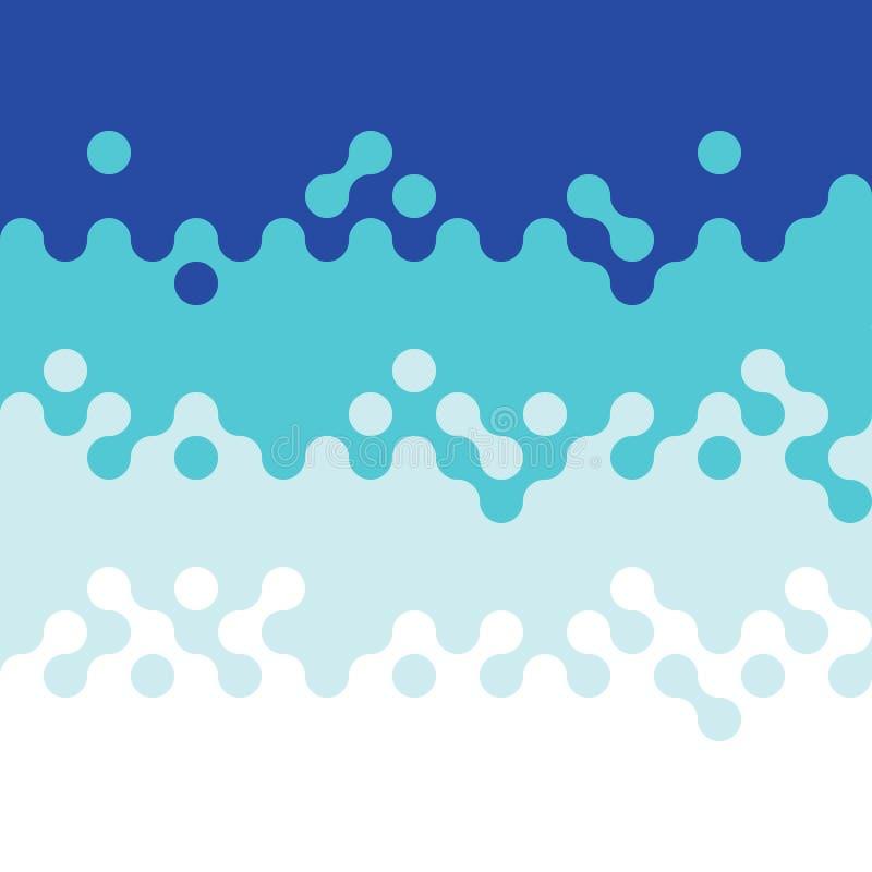 Fundo azul abstrato do teste padrão do círculo da onda ilustração royalty free