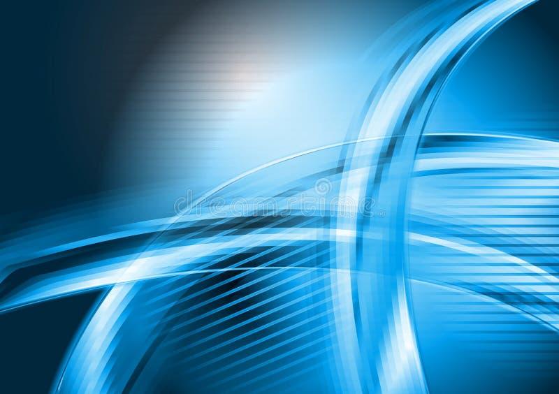Fundo azul abstrato do vetor de ondas ilustração stock