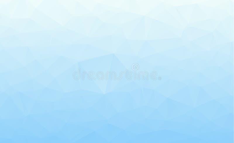 Fundo azul abstrato do vetor do polígono Baixo fundo de cristal poli escuro abstrato do vetor roxo, cor-de-rosa Teste padrão do p ilustração stock