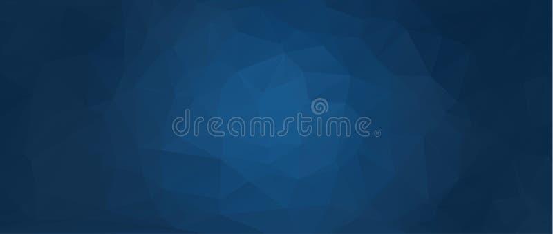 Fundo azul abstrato do vetor do polígono Fundo abstrato de formas geométricas Fundo retro do triângulo Patte colorido do mosaico ilustração do vetor