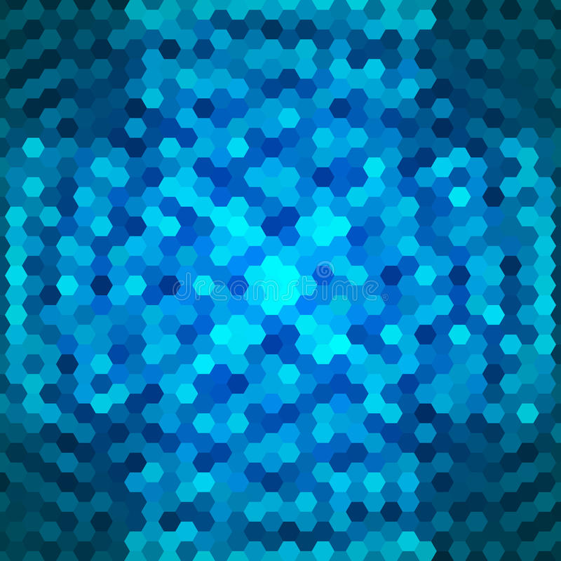 Fundo azul abstrato dos hexágonos ilustração stock