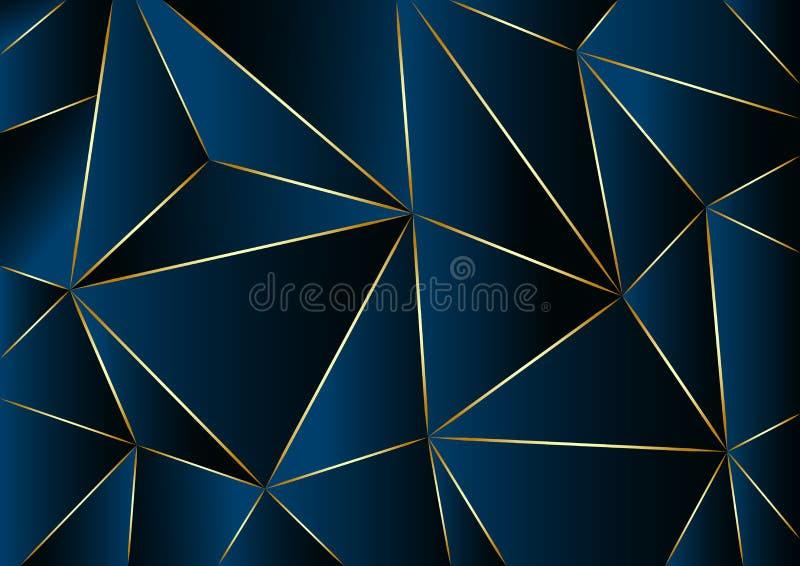 Fundo azul abstrato no baixo estilo poli Ilustração do vetor ilustração stock
