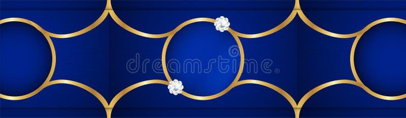 Fundo azul abstrato no estilo indiano superior Projeto do molde para a tampa, apresenta??o do neg?cio, bandeira da Web, convite d ilustração do vetor