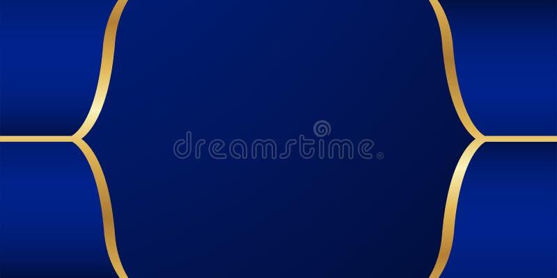 Fundo azul abstrato no estilo indiano superior Projeto do molde para a tampa, apresenta??o do neg?cio, bandeira da Web, convite d ilustração stock