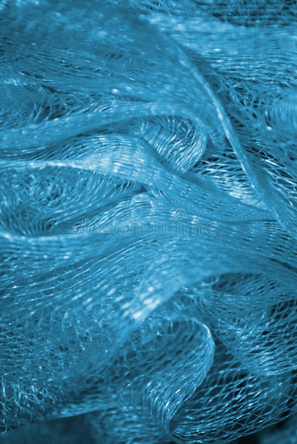 Fundo azul abstrato Ondas linhas imagens de stock royalty free