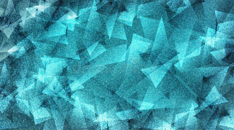 Fundo azul abstrato teste padrão listrado e blocos protegidos em linhas diagonais com textura azul do vintage ilustração do vetor