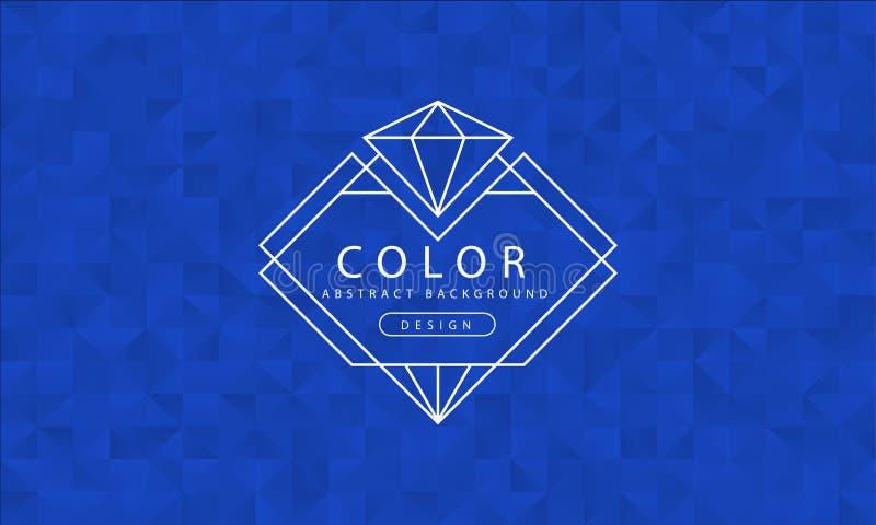 Fundo azul abstrato, texturas azuis, papel de parede azul da bandeira, cor azul do polígono, ilustração do vetor ilustração stock