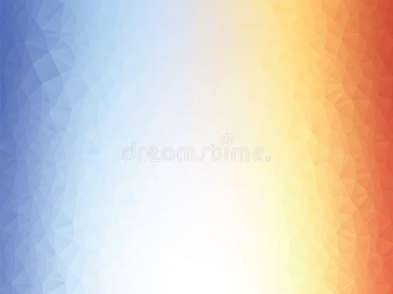 fundo azul alaranjado da textura baixo poli ilustração stock