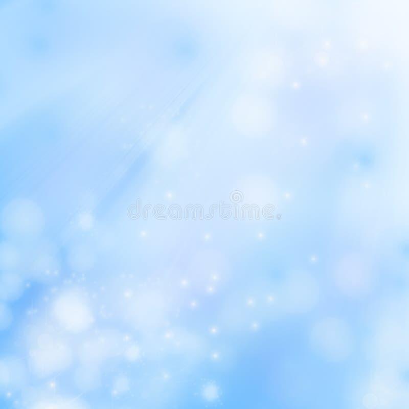 Fundo azul, borrado ilustração do vetor