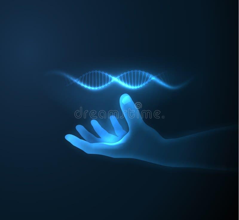 Fundo azul brilhante da tecnologia ilustração stock