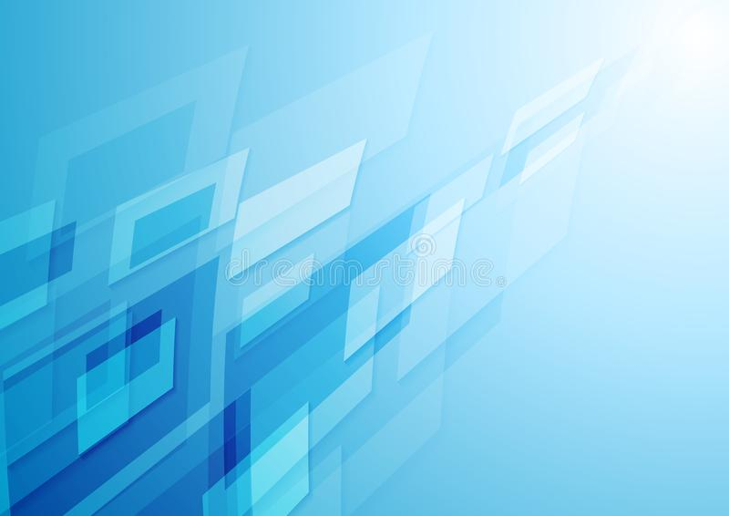 Fundo azul brilhante do sumário da olá!-tecnologia ilustração stock