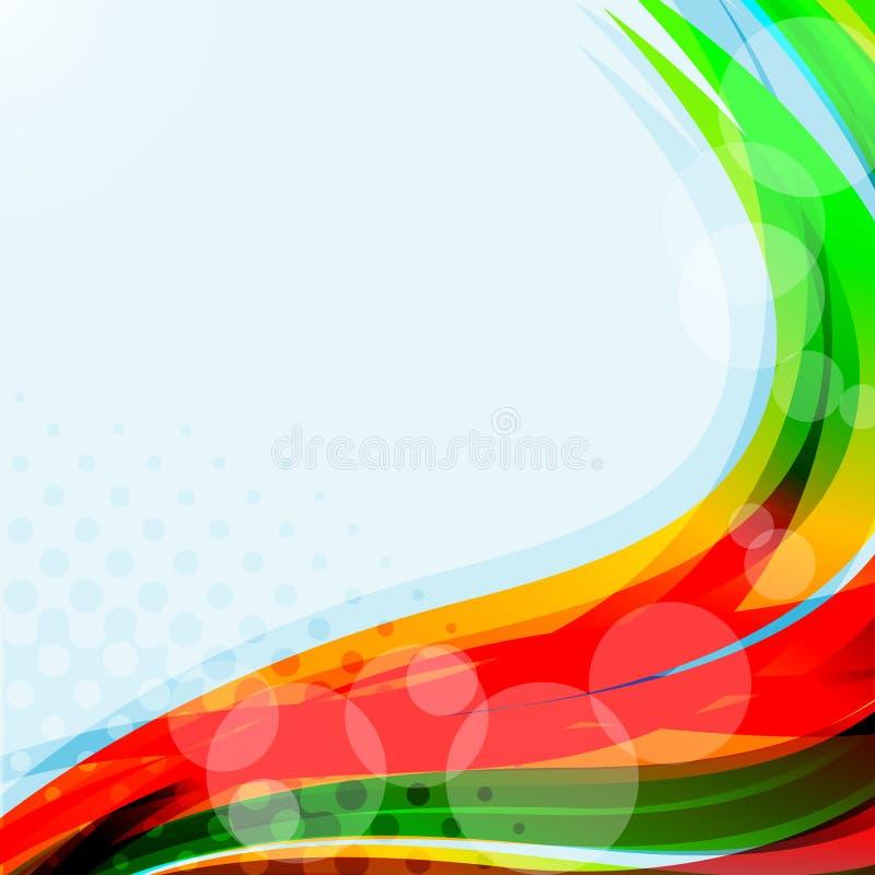 Fundo azul brilhante. Ilustração colorida abstrata ilustração do vetor